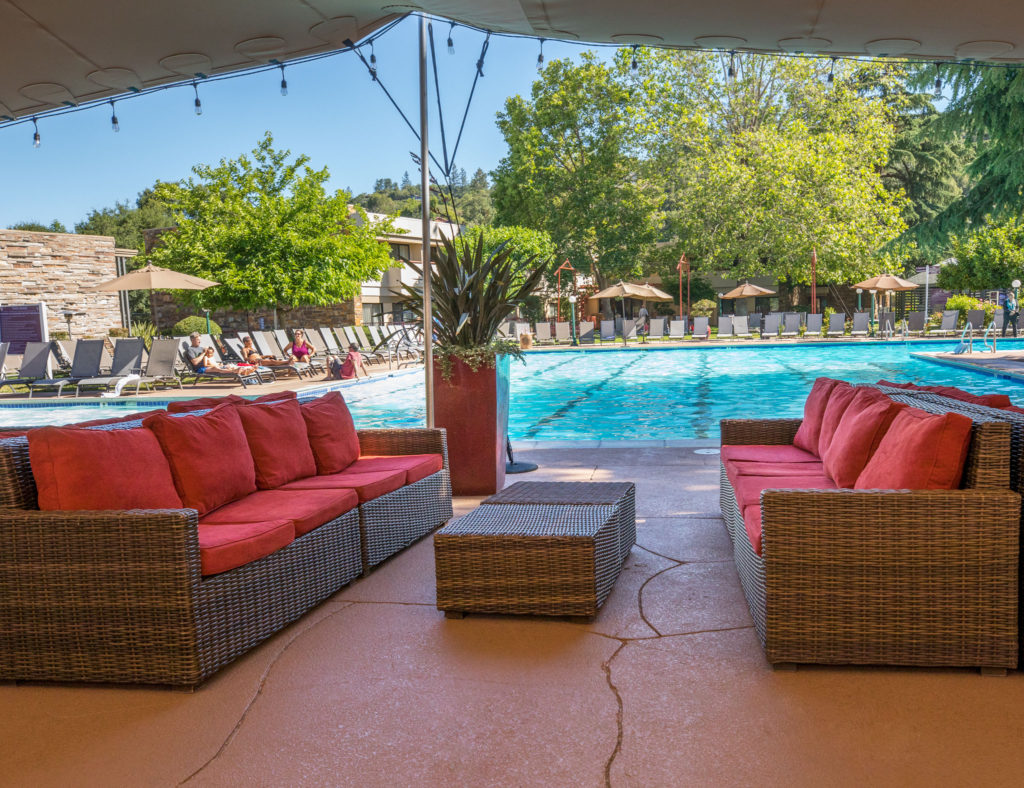 Flamingo Resort Outdoor Patio Area Next To The Pool