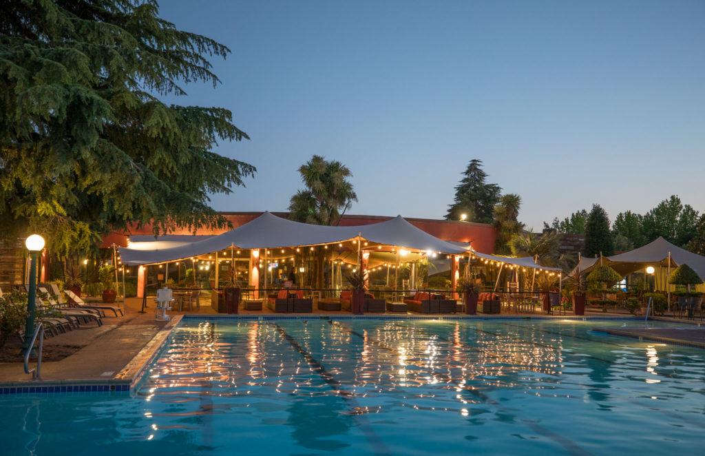 Flamingo Resort Pool At Night