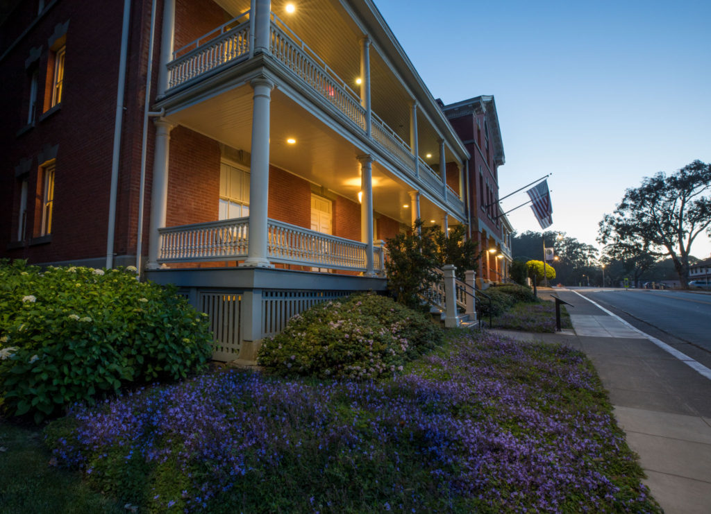 Inn at the Presidio - At Night With Flowers